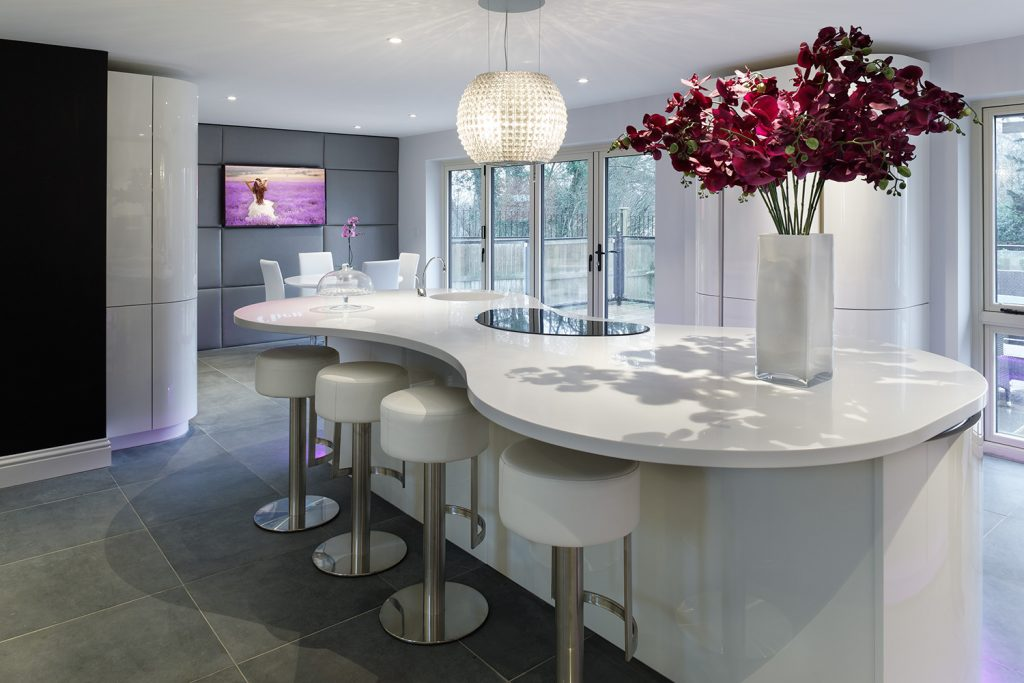 Designer Curved Kitchen Image